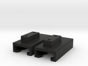 Light mount for Bioboards Plutonium handle in Black Natural Versatile Plastic