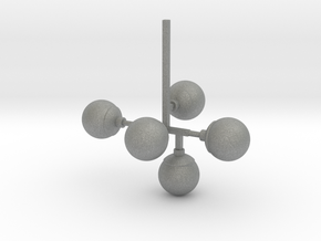 Chandelier 01. 1:24 Scale in Gray PA12