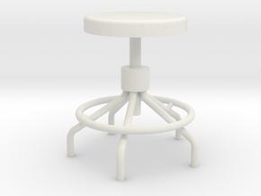 1:24 Sputnick stool in White Natural Versatile Plastic