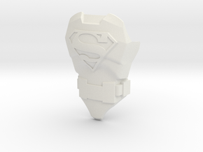 Superman Body | CCBS Scale in White Natural Versatile Plastic