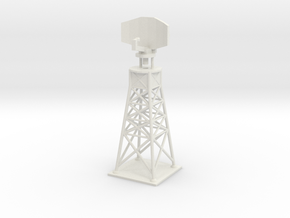 Airport Ground Radar Tower - Various Scales in White Natural Versatile Plastic: 1:400