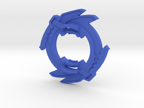 Beyblade Trygator-1 | Anime Attack Ring in Blue Processed Versatile Plastic