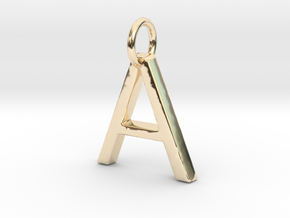 A Pendant- Makom jewelry in 14k Gold Plated Brass