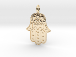 HAMSA HAND in 14k Gold Plated Brass: Small