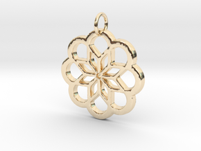 Flower Pendant- Makom Jewelry in 14k Gold Plated Brass