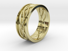 Celtic wedding ring for him in 18K Yellow Gold: 11 / 64