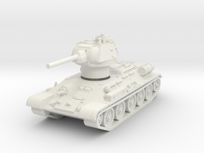 T-34-76 1944 fact. 183 early 1/72 in White Natural Versatile Plastic
