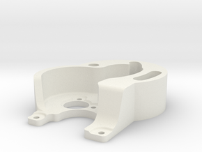 SCX24 2FM RC Surpass motor mount in White Natural Versatile Plastic