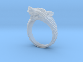 Size 8 Direwolf Ring in Smooth Fine Detail Plastic: 8 / 56.75