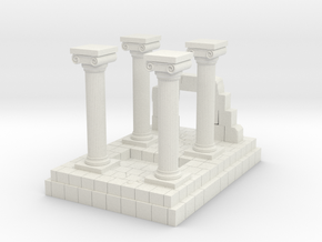 Greek Miniature Terrain in White Natural Versatile Plastic