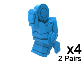 Commander Mech Leg Extensions in Smooth Fine Detail Plastic