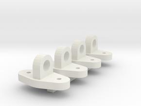 oog veiligheidsketting  in White Natural Versatile Plastic