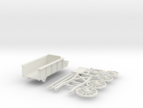 Wagon Kit for 32 mm scale adventures in White Natural Versatile Plastic