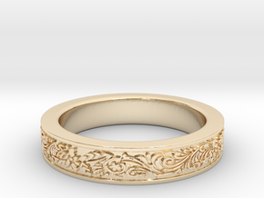 Celtic Wedding Ring 12 in 14K Yellow Gold