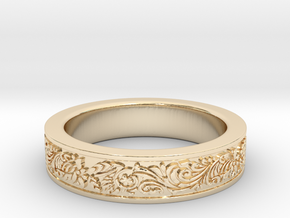 Celtic Wedding Ring 8.5 in 14K Yellow Gold