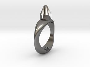 T&B Screwdriver Ring in Polished Nickel Steel