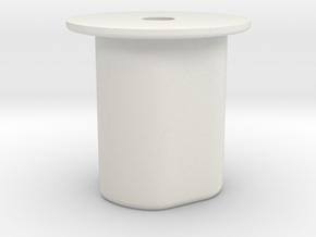 Adapter, Manfrotto tripod base to monopod. in White Natural Versatile Plastic