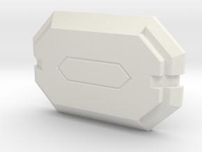Mandalorian Citizens Buckle - 1 Piece in White Natural Versatile Plastic: Extra Small