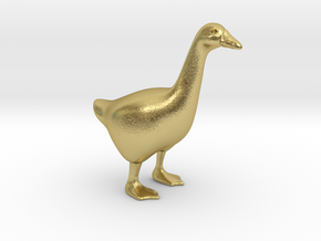 Goose in Natural Brass