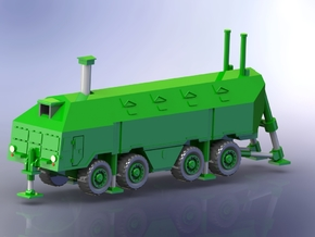 MaZ 543 Reduit Mobile Bunker Truck (deployed) 1160 in Smooth Fine Detail Plastic