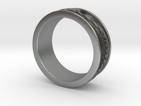 Ouroboros ring for him in Natural Silver: 8.5 / 58