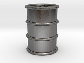 Oil Barrel in Polished Nickel Steel