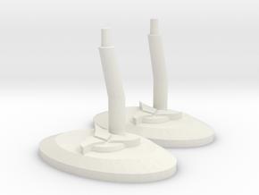 Klingon Stand in White Natural Versatile Plastic