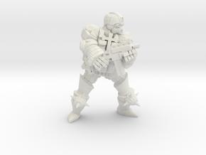 Combat Monk widestance subgun in White Natural Versatile Plastic