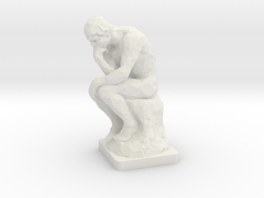 The Thinker (1:160) in White Natural Versatile Plastic