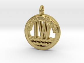 Inland Waterways Pendant or Charm in Natural Brass