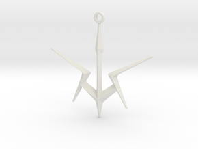 Black Knights Sigil Keychain - Code Geass in White Natural Versatile Plastic