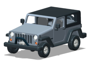 Jeep Kit - HO Scale in Smooth Fine Detail Plastic: 1:87 - HO