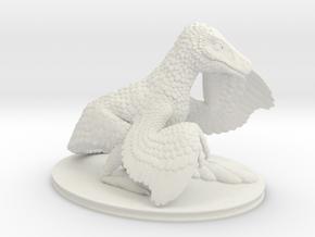 Dromaeosaurus  in White Natural Versatile Plastic