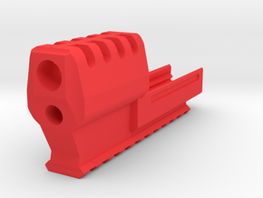 J.W. Frame Mounted Compensator (11-Slots) for 1911 in Red Processed Versatile Plastic