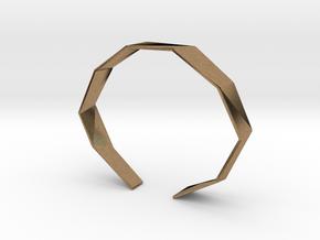 Faceted Bracelet Size L in Natural Brass