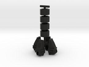 Pharoid Feet and Spats in Black Natural Versatile Plastic: Large