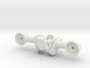 Spiegel für Losi Baja Rey Ford Raptor in White Natural Versatile Plastic