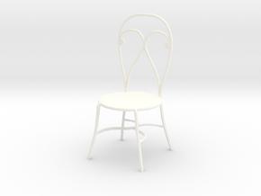 Dollhouse Miniature Chair 'Finer Fare' in White Processed Versatile Plastic: 1:24
