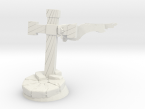 Base Round 28mm With Cross in White Natural Versatile Plastic