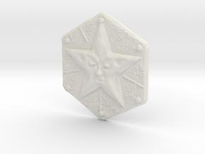 Resident Evil Remake Star Crest in White Natural Versatile Plastic