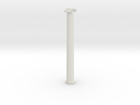 Ionic Column in White Natural Versatile Plastic: Extra Small