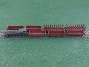 Mixed Freight Train Set 1 1/285 6mm in Smooth Fine Detail Plastic