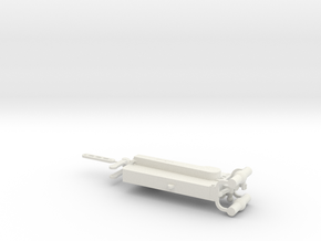 1/6th Scale MG08 Receiver in White Natural Versatile Plastic