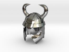 Finger Hat: Viking Helmet in Fine Detail Polished Silver