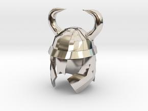 Finger Hat: Viking Helmet in Platinum