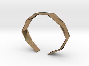Faceted Bracelet Size M in Natural Brass