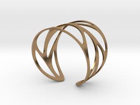 Leaf Bracelet Size M in Natural Brass