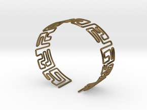 Maze Bracelet Size M in Natural Bronze