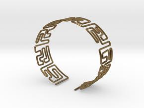 Maze Bracelet Size L in Natural Bronze