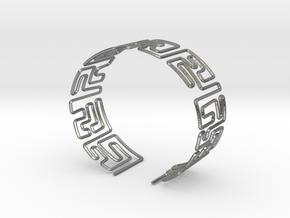 Maze Bracelet Size S in Natural Silver